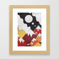 Three Moon Mounts Framed Art Print