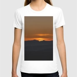 Italian alps orange sunrise T-shirt
