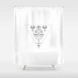 Faces with the third Eye Effect Shower Curtain