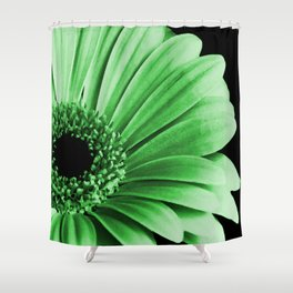 Gerbera Green Shower Curtain