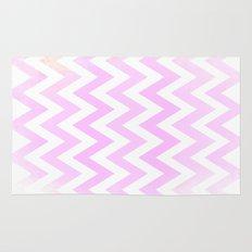 Pink Textured Chevron Pattern Rug