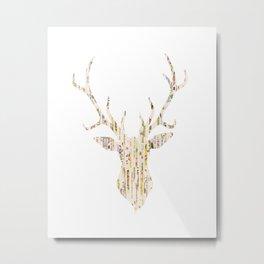 Upcycled Reindeer Metal Print