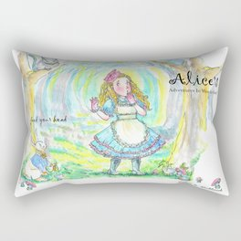 Alice's Adventures In Wonderland Rectangular Pillow