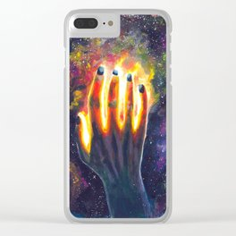 Hand study #4. Touch the stars Clear iPhone Case