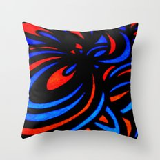 Blue & Orange  Throw Pillow