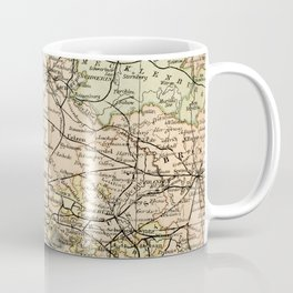 Old and Vintage Map of Germany Outline Coffee Mug