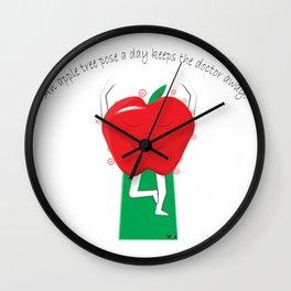 Apple Tree Pose Wall Clock