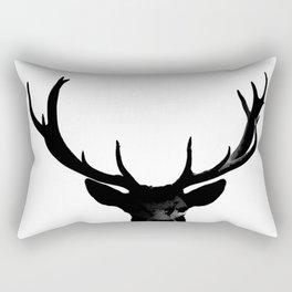 Black Deer Silhouette A273 Rectangular Pillow