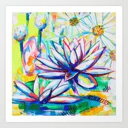 Flower Puzzle (7) Art Print
