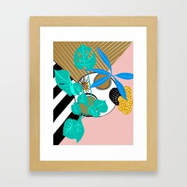 Houseplant perspective shift Framed Art Print
