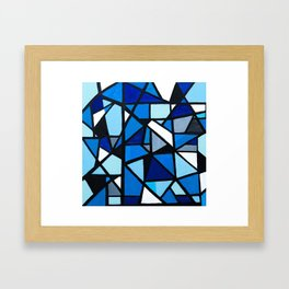 Blue Geometric Framed Art Print
