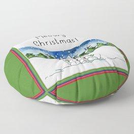 Meowy Christmas! Floor Pillow