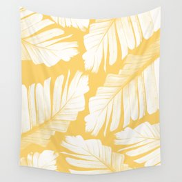 Yellow Banana Leaves Dream #1 #tropical #decor #art #society6 Wall Tapestry