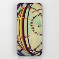 santa monica iPhone & iPod Skins featuring Santa Monica by Nikole Lynn Photography