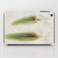 aelwen iPad Cases featuring Green Feathers by Pure Nature Photos