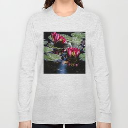 Two water lilies in the sunbeam Long Sleeve T-shirt