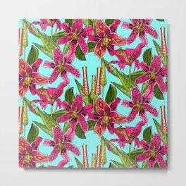 stargazer lilies Metal Print