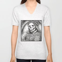 The Skeleton King  Unisex V-Neck