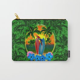 Tropical Sunset Palm Trees Carry-All Pouch