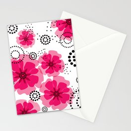 PEPPER POPPIES | fuschia Stationery Cards