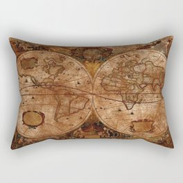 Vintage Olde Worlde Map 1620 Rectangular Pillow
