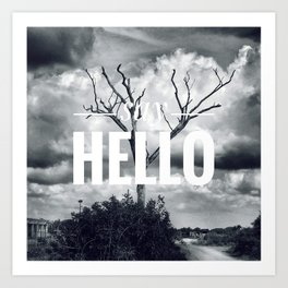 Motus Operandi Collection: Say hello Art Print