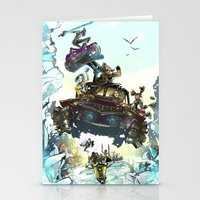 borderlands Stationery Cards featuring Borderlands Catch a Ride! by Donna A. / Karniz