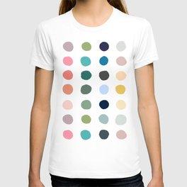 Casual Summer Colorful Polka Dots T-shirt