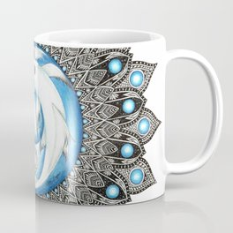 Yin and Yang Butterfly Koi Fish Mandala Coffee Mug