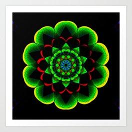 Neon lotus Art Print