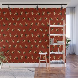 Fighting Roosters Wall Mural