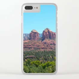 Sedona Red Rocks Clear iPhone Case