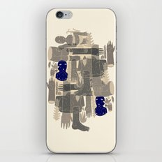 two blue bodys iPhone Skin