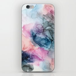 Heavenly Pastels: Original Abstract Ink Painting iPhone Skin
