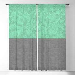 Teal Marble and Concrete Blackout Curtain
