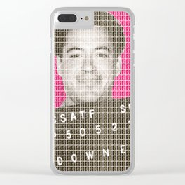 Robert Downey Jr Mug Shot - Pink Clear iPhone Case