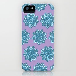 Celtic Mandala Lavender and Aqua iPhone Case