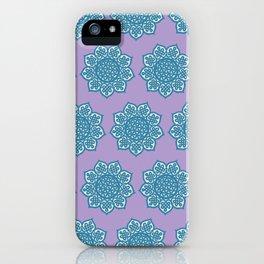 Celtic Mandala Lavender and Aqua iPhone Case