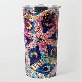Abstract Moon Tile  Travel Mug