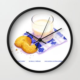 Milk & Cookies Wall Clock