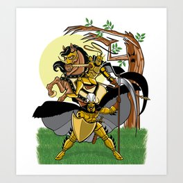 Golden Knights Art Print