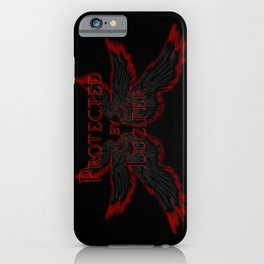 Protected by Lucifer Dark iPhone Case
