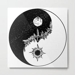 SciFi Yin and yang Metal Print