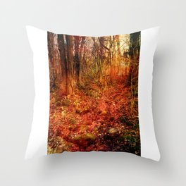 Forest poetry Throw Pillow