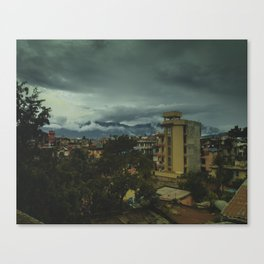 Kathmandu City Roof Top 002 Canvas Print