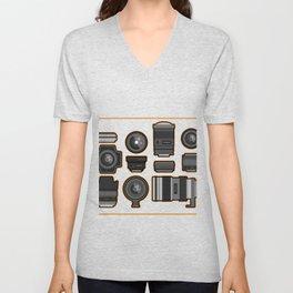 Camera Lense Photographer Photography Cameraman Gift Unisex V-Neck