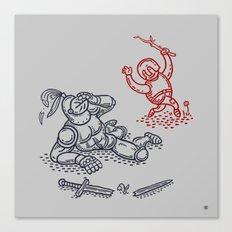 Happy Knight  Canvas Print