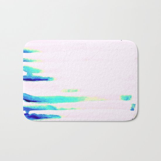 Colorful Seaside Stripes Bath Mat