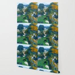 "Paul Gauguin ""La bergère bretonne (The Breton shepherdess)"" Wallpaper"