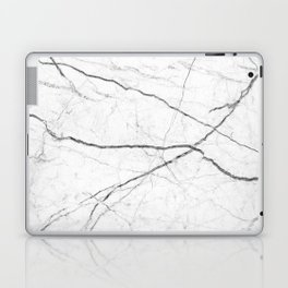 preppy minimalist modern chic grey white marble Laptop & iPad Skin